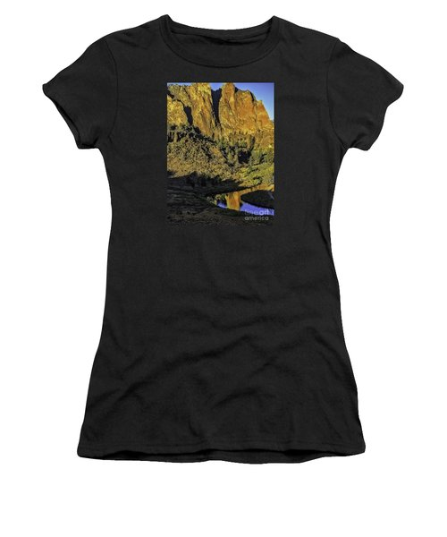 Smith Rock Reflections-1 Women's T-Shirt (Athletic Fit)