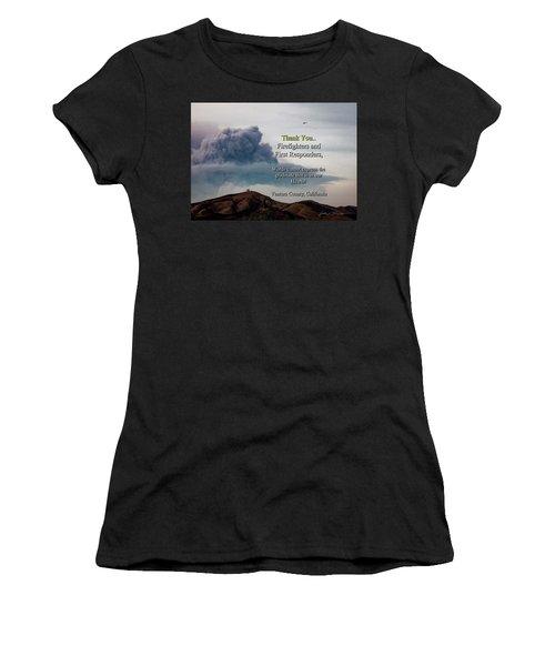 Smoke Cloud Over Two Trees Women's T-Shirt