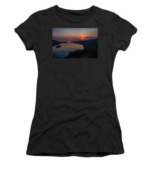 Smoke-diffused Sun At Emerald Bay Women's T-Shirt