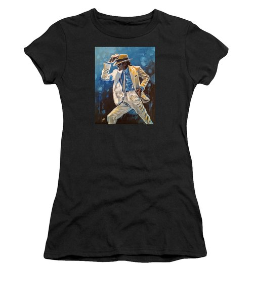 Women's T-Shirt featuring the painting Smooth Criminal by Jennifer Hotai