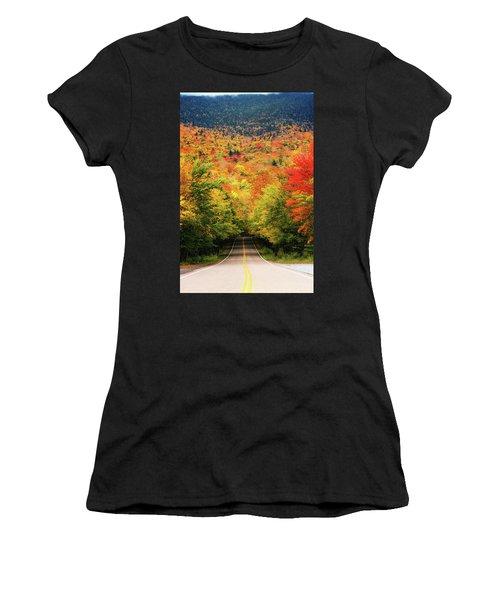 Smuggler's Notch Women's T-Shirt (Junior Cut) by Robert Clifford