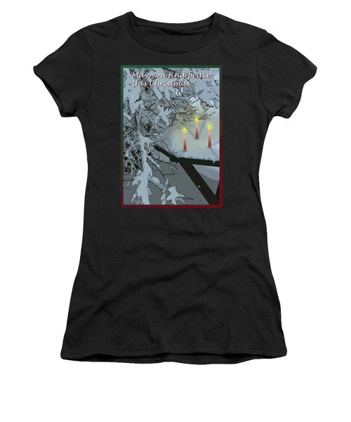 Snow And Candlelight Women's T-Shirt