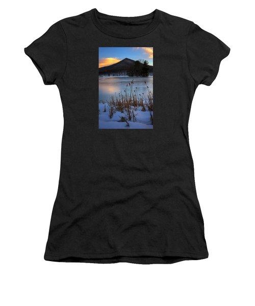 Snow At The Peaks Women's T-Shirt (Junior Cut) by Steve Hurt