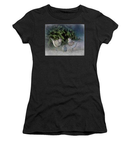 Snow Birds Women's T-Shirt (Athletic Fit)