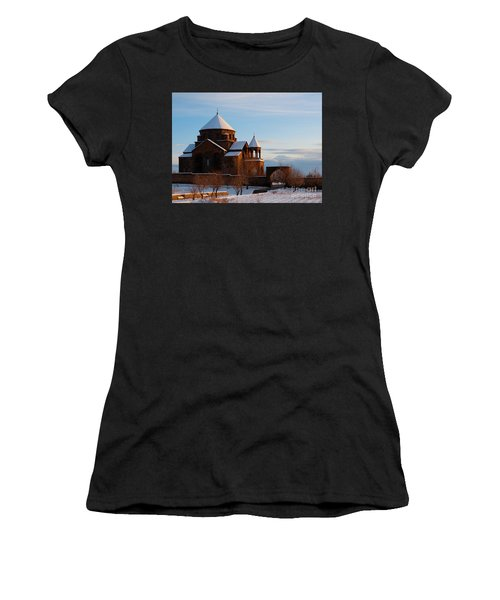 Snow Capped St. Hripsipe Church At Winter, Armenia Women's T-Shirt (Athletic Fit)