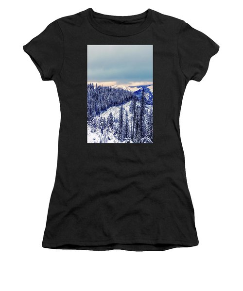 Snow Covered Mountains Women's T-Shirt