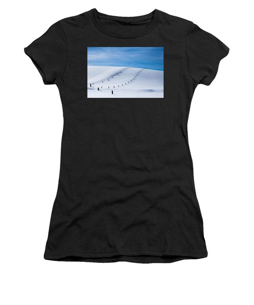 Snow Covered Pasture Women's T-Shirt
