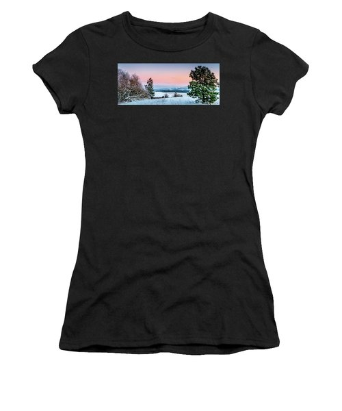 Snow Covered Valley Women's T-Shirt