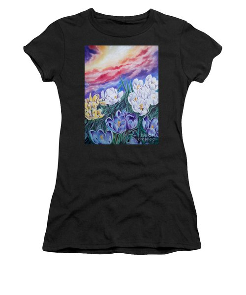 Flygende Lammet Productions      Snow Crocus Women's T-Shirt