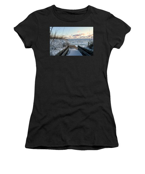 Snow Day At The Beach Women's T-Shirt