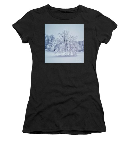 Snow Encrusted Tree Women's T-Shirt (Athletic Fit)