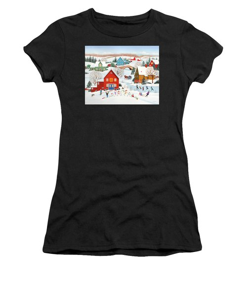 Snow Family  Women's T-Shirt (Athletic Fit)