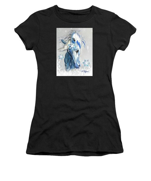 Snow Flakes Women's T-Shirt (Athletic Fit)