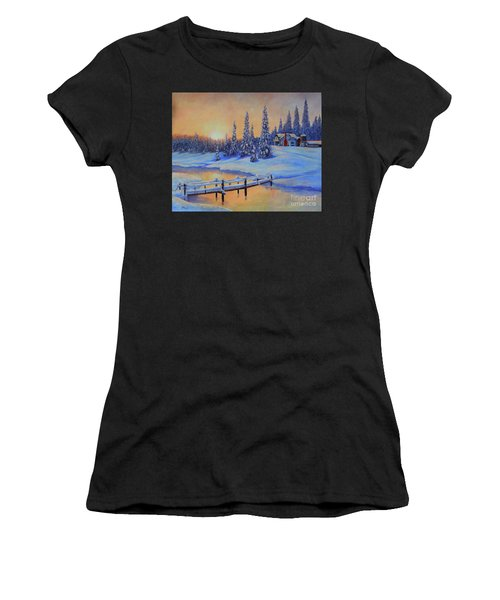 Snow Home Women's T-Shirt (Athletic Fit)