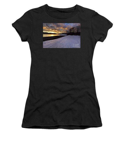 Snow On Beach Women's T-Shirt