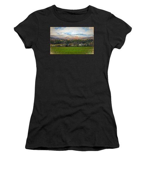 Snow On The Mountains Women's T-Shirt (Athletic Fit)