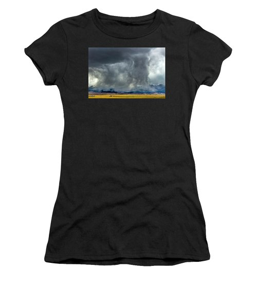 Snow On The Rockies Women's T-Shirt (Athletic Fit)