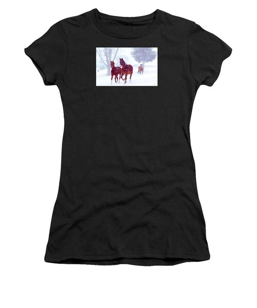 Snow Run Women's T-Shirt