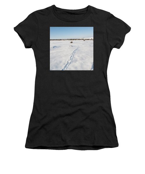 Snow Tracks Women's T-Shirt