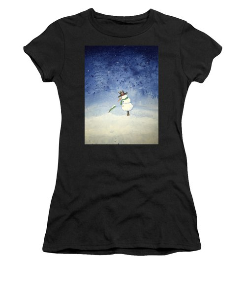 Snowfall Women's T-Shirt (Athletic Fit)