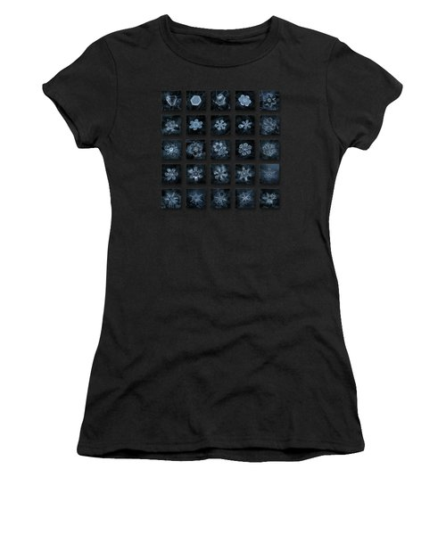 Snowflake Collage - Season 2013 Dark Crystals Women's T-Shirt