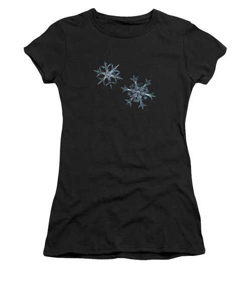 Snowflake Photo - When Winters Meets - 2 Women's T-Shirt