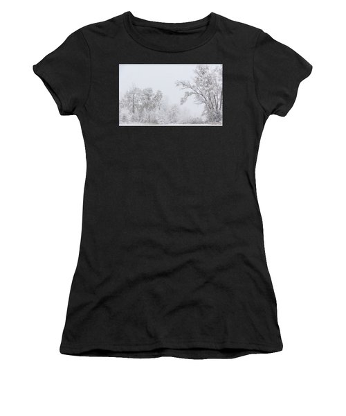 Snowing In A Starbucks Parking Lot Women's T-Shirt (Athletic Fit)