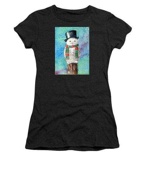 Snowman Owl Women's T-Shirt (Athletic Fit)
