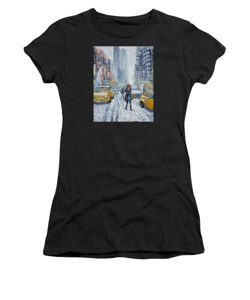 Urban Snowstorm Women's T-Shirt