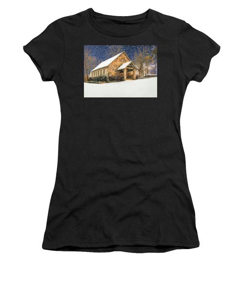 Snowy Cloudland Presbyterian Church  Women's T-Shirt
