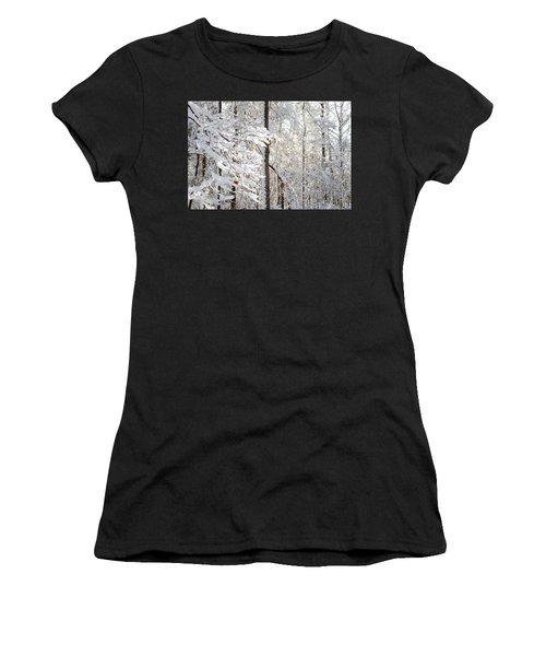 Snowy Dogwood Bloom Women's T-Shirt (Athletic Fit)