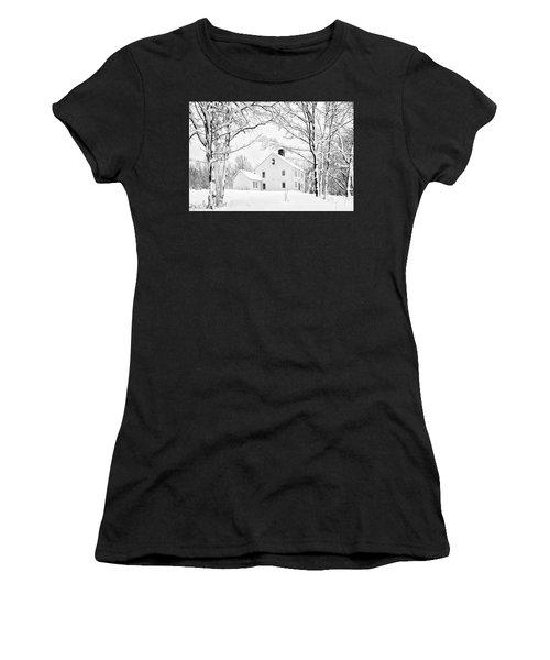 Snowy New England Homestead Women's T-Shirt