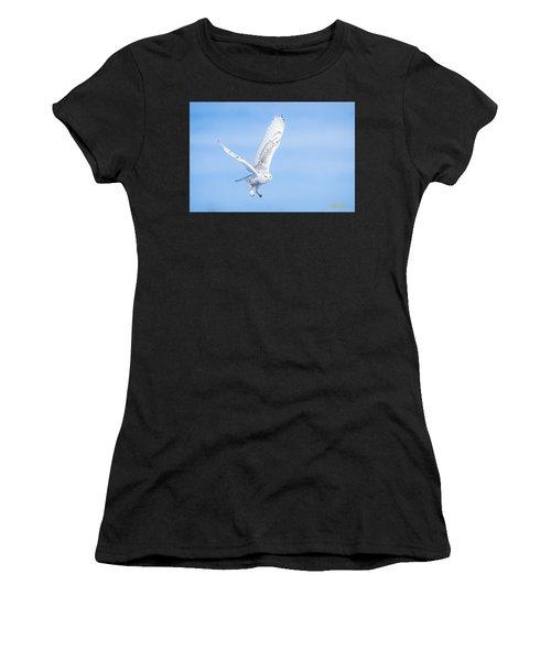 Snowy Owls Soaring Women's T-Shirt