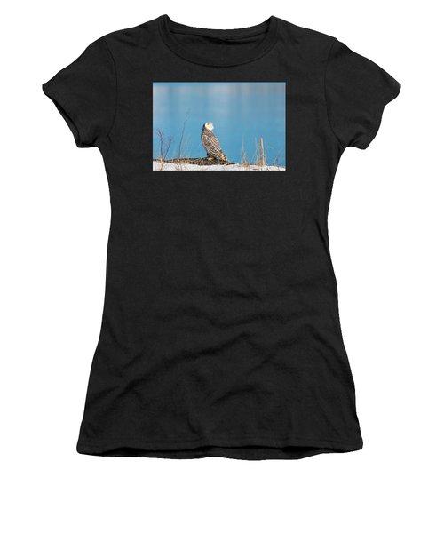 Snowy Watching A Plane Women's T-Shirt