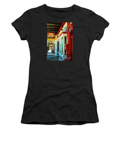 Snug Harbor Jazz Bistro- Nola Women's T-Shirt (Junior Cut) by Kathleen K Parker