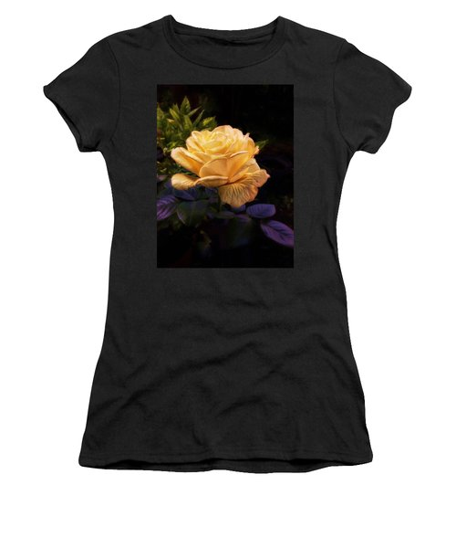 Soft Gold Rose Women's T-Shirt (Athletic Fit)