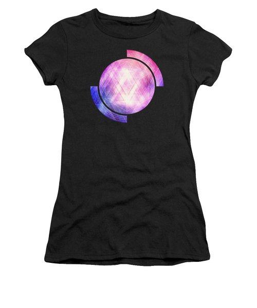 Soft Modern Fashion Pink Purple Bluetexture  Soft Light Glass Style   Triangle   Pattern Edit Women's T-Shirt