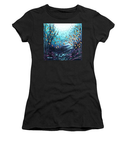 Soldier Fish And Coral  Women's T-Shirt (Athletic Fit)
