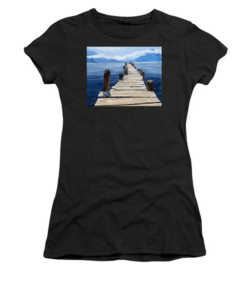 Crooked Dock  Women's T-Shirt (Athletic Fit)