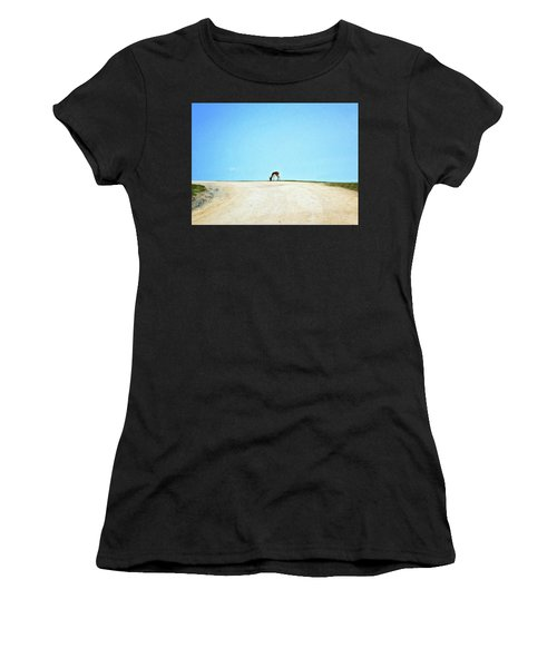 Women's T-Shirt (Athletic Fit) featuring the digital art Solitude by Sue Collura