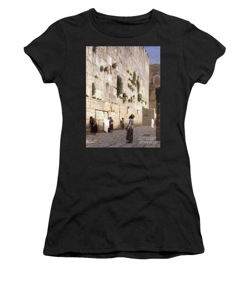 Solomon's Wall, Jerusalem  The Wailing Wall Women's T-Shirt