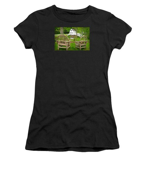 Somesville Maine - Arched Bridge Women's T-Shirt (Athletic Fit)