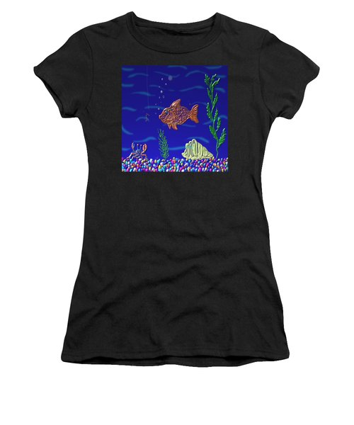 Something Fishy Women's T-Shirt (Athletic Fit)