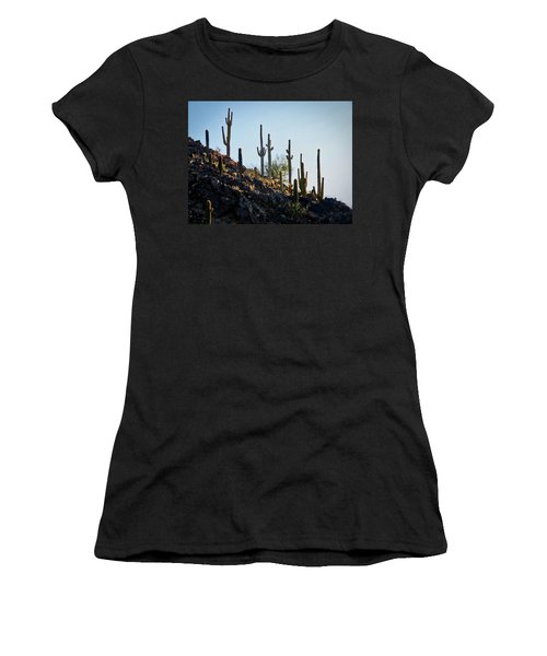 Sonoran Desert Saguaro Slope Women's T-Shirt