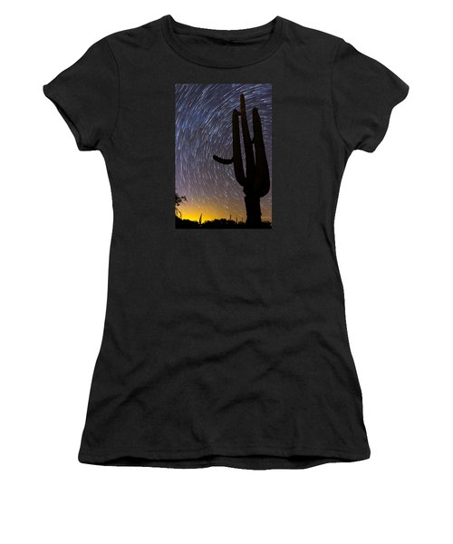 Sonoran Startrails - Reaching For The Stars Women's T-Shirt (Athletic Fit)