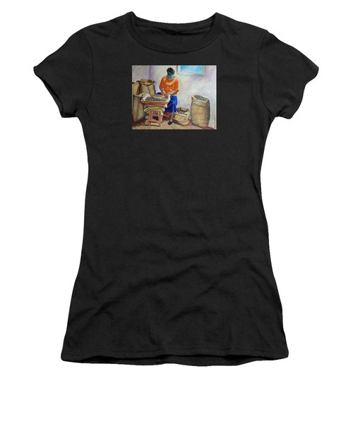 Sorting Nutmegs Women's T-Shirt (Athletic Fit)