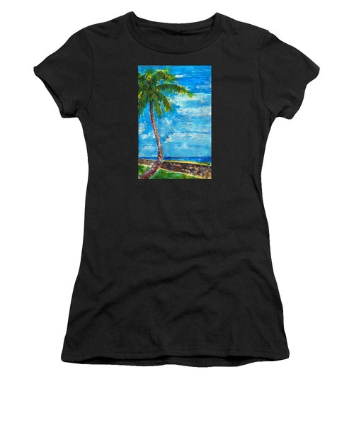 South Beach Wall Women's T-Shirt (Athletic Fit)