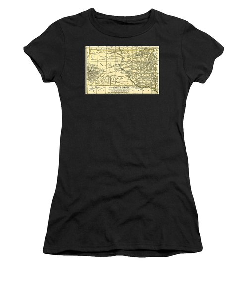 South Dakota Antique Map 1891 Women's T-Shirt