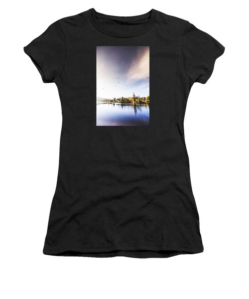 Women's T-Shirt featuring the photograph South-east Tasmania River Landscape by Jorgo Photography - Wall Art Gallery