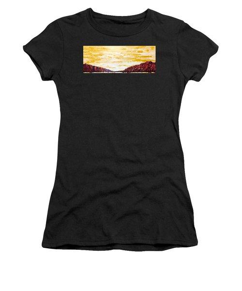 Southwestern Mountain Range Women's T-Shirt (Athletic Fit)